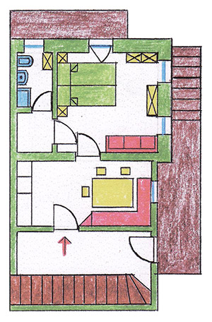 Apartment 1 - Open layout